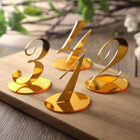 10pcs Wedding Table Numbers decoration for Wedding centerpieces Gold Mirror Acrylic Signs Reception number decor Freestanding 200929
